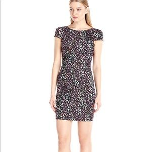 French connection electric leopard mini dress